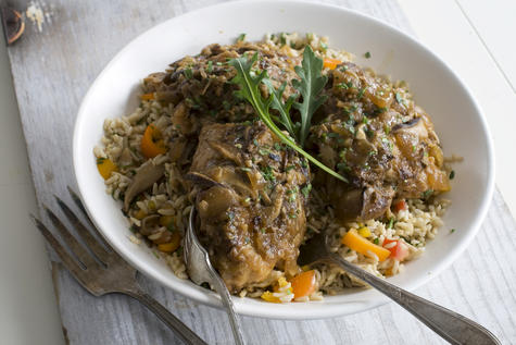 One-pot chicken is a blast of savory goodness. Recipe: Miso-Smothered Chicken | Planit Northwest