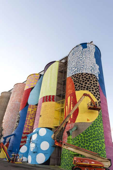 Grain Silos Are Instantly Transformed with a Creatively Colorful Paint Job (16 pics)
