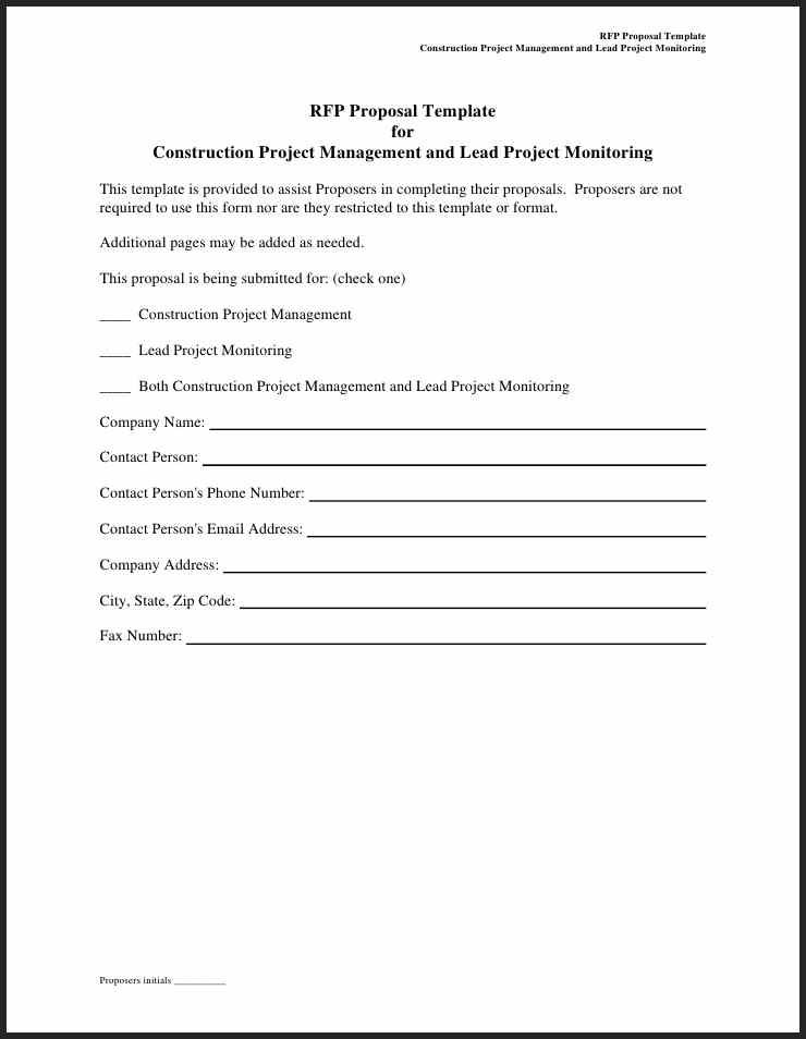construction-management-proposal-samples-examples_2 construction - bid proposal forms