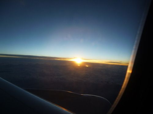 The Sunrise From A Plane
