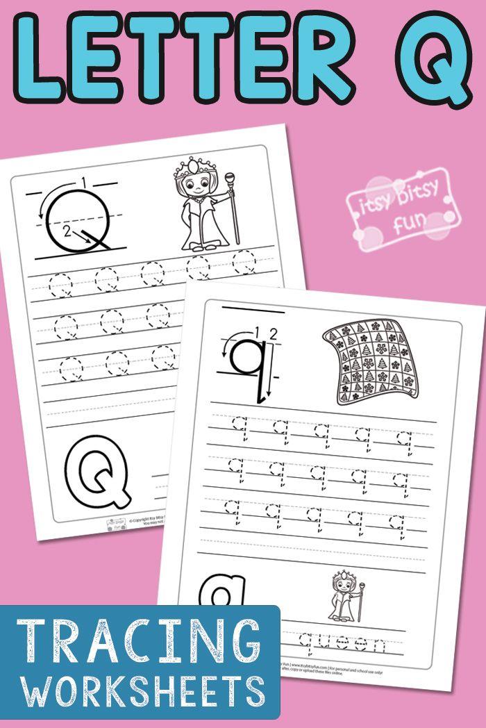 Letter Q Tracing Worksheets FREE Worksheets for Kids