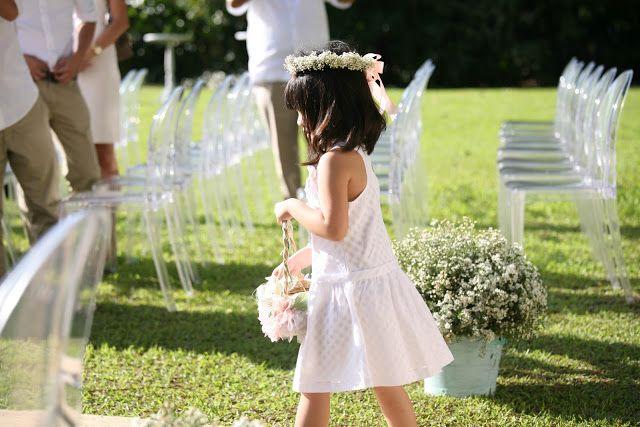 short length dress length, wreath, white