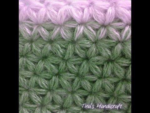 How to Crochet a Jasmine Stitch Part I - YouTube | Crochet stitches ...