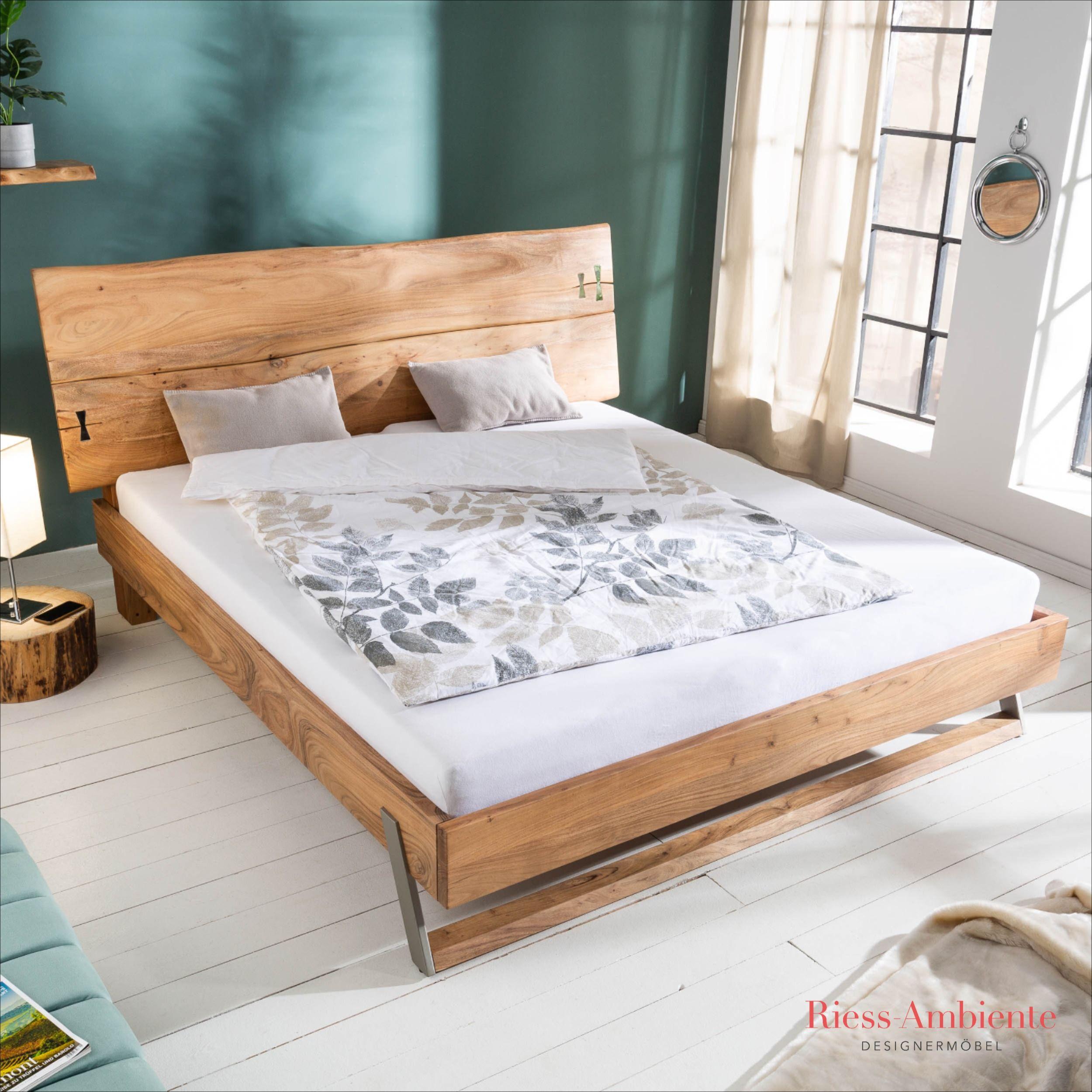 Massives Baumstamm Bett Mammut 180x200cm Akazie Natur Inkl Lattenrost Wohnung Dekoration Schlafzimmermöbel Bett