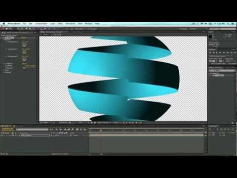 Tutorial Ribbon/Spiral sphere in After Effects - YouTube