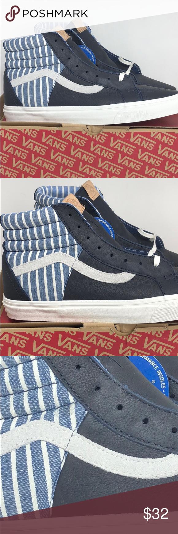 63ce256295 Vans SK8 Hi 46 CA Stripes Dress Blues Size 13 Mens Brand new in box! Vans  Shoes Sneakers