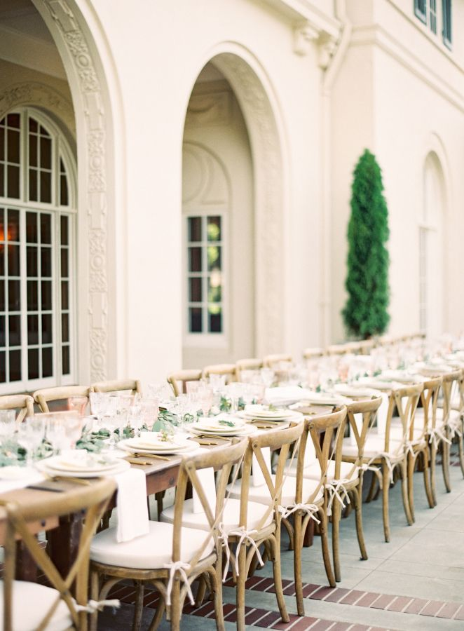 Wedding reception for an Elegant Tuscan inspired wedding