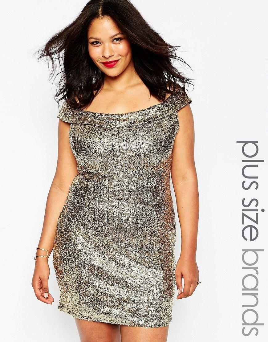 Clublplussizebardotdressinsequins fashionista within