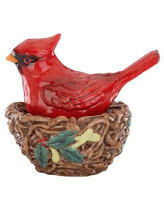 Lenox Dinnerware, Winter Greetings Nesting Cardinal Salt ...