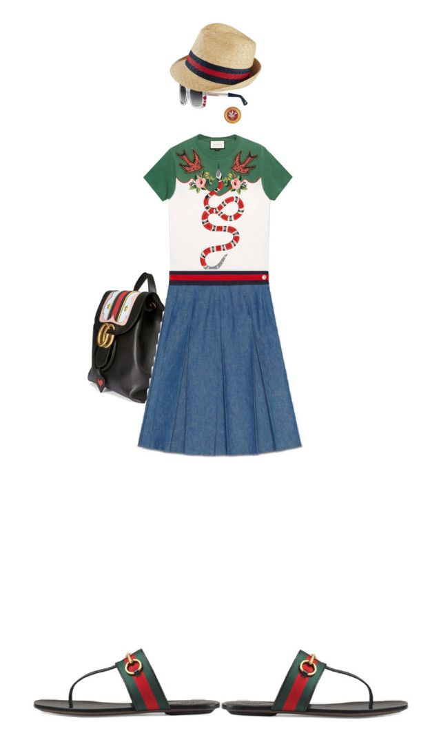 """Birds Eye View"" by kathyaalrust ❤ liked on Polyvore featuring Gucci and gucci"