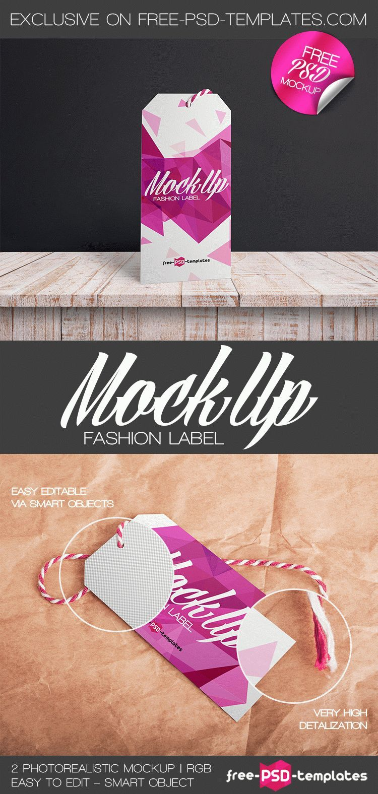 2 Free Fashion Label Mock-ups in PSD   Free PSD Templates   #free ...