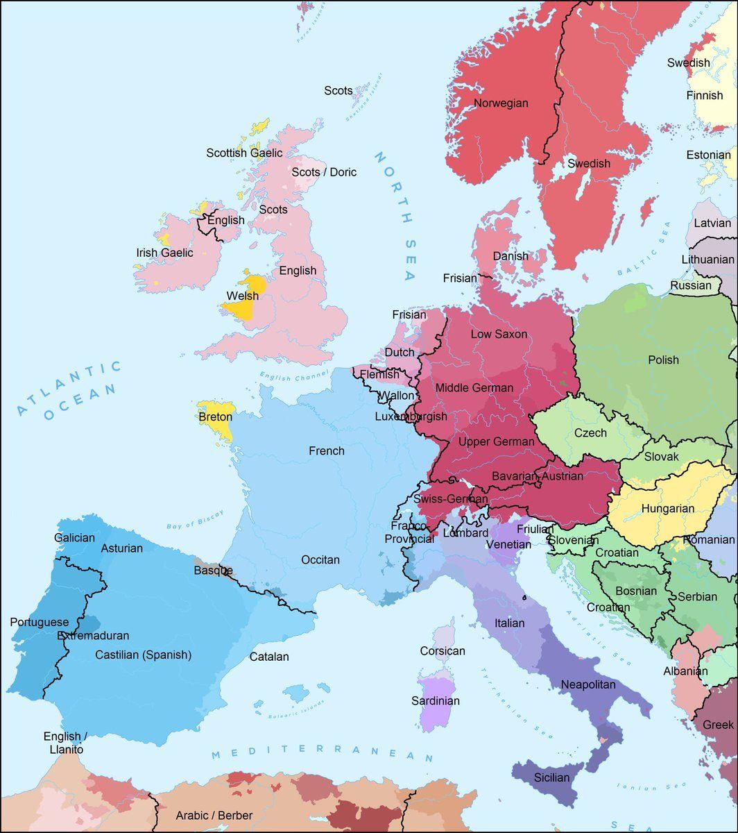 western and central europe map UK Language Maps on Twitter | Language map, Irish gaelic, Country maps