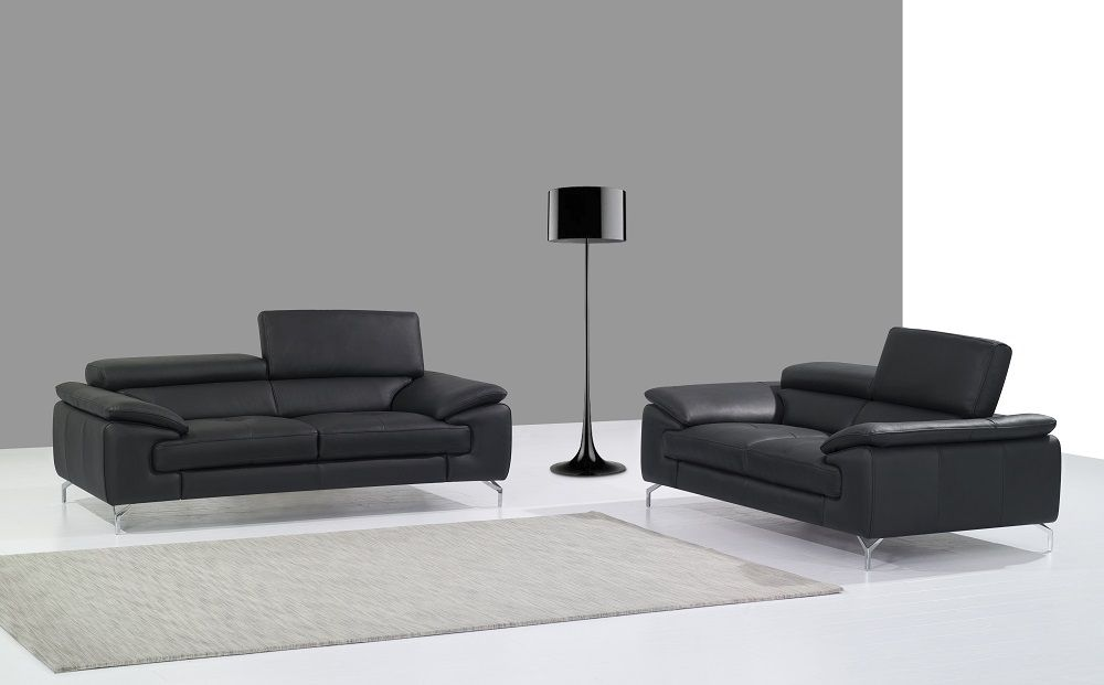 Italian Leather Sectional Contemporary Sectional