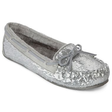 fb36337e6677d Warm Fuzzy Mocassins Size 8 - sparkly a bonus. Pinned from JCP