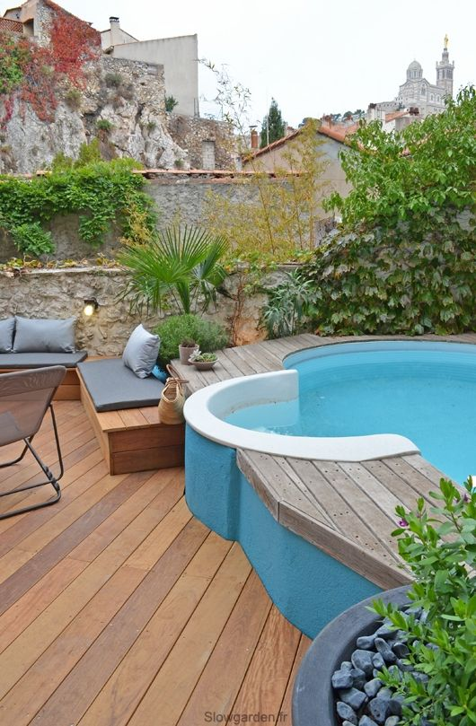Petit jardin avec piscine avant apr s slowgarden for Piscine design marseille
