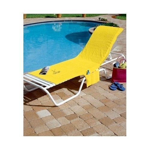 Lounge Chair Cover Terry Cloth Pool