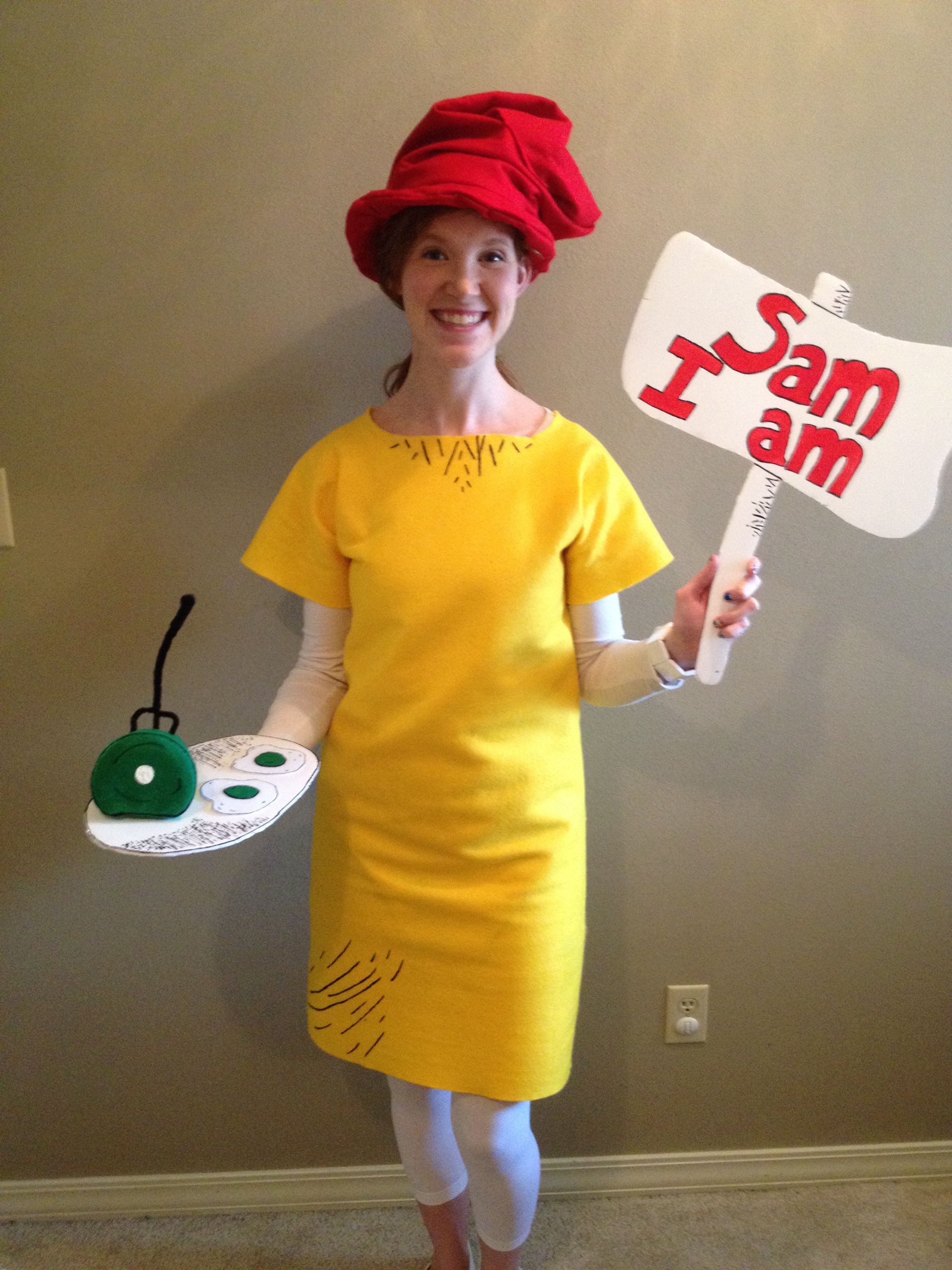Homemade Sam I Am Costume For The Last Day Of Dr Seuss Week Felt