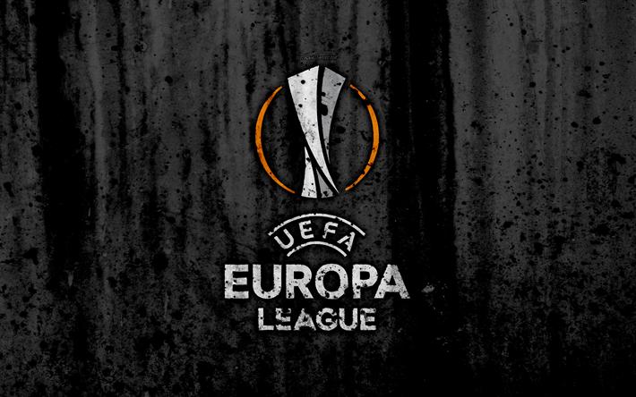 футбол 1 Wallpaper: Download Wallpapers UEFA Europa League, 4k, Logo, Grunge