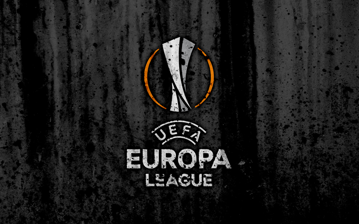 Download wallpapers UEFA Europa League, 4k, logo, grunge ...