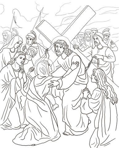 Cuarta Estación: Jesús se Encuentra con su Madre Dibujo para ...