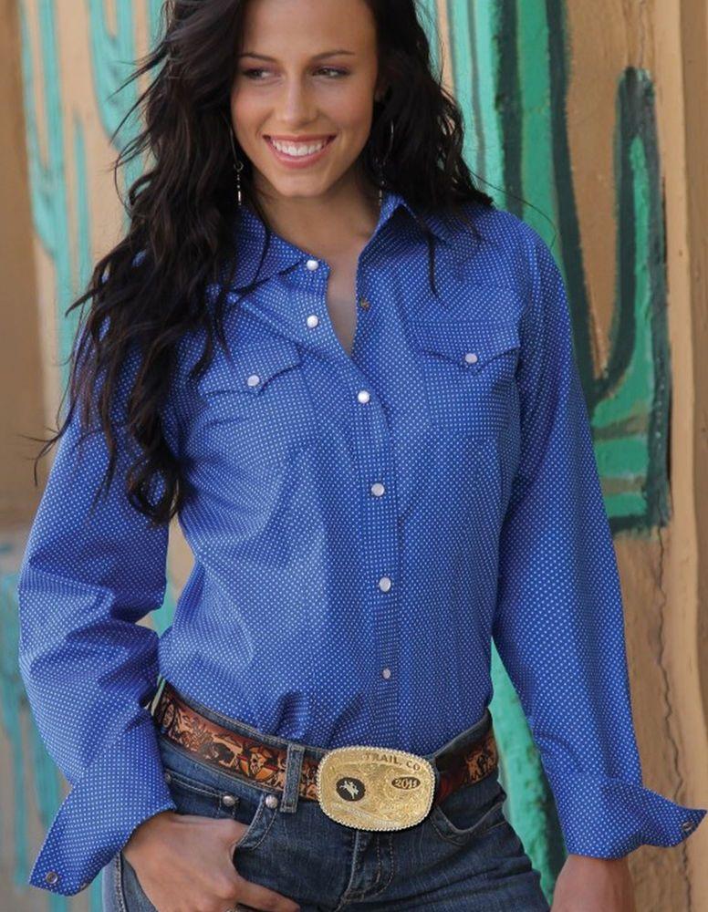CRUEL GIRL RODEO Western Barrel ROYAL BLUE DOT SHIRT COWGIRL NWT MEDIUM #CruelGirl #Western  24.99!