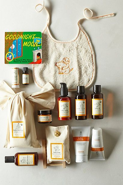 The best, luxe baby gift basket - perfect gift for a baby shower #AnthroRegistry