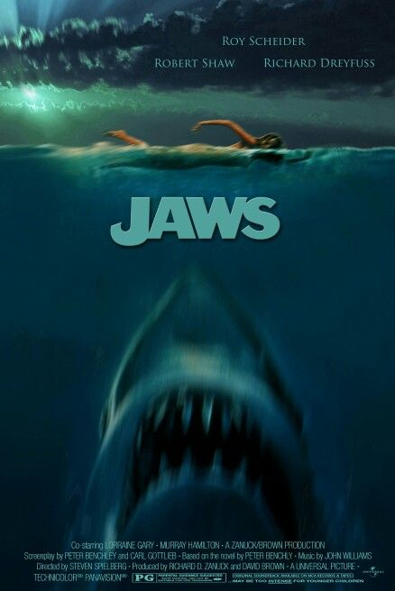 My latest modern version of the Jaws  movie poster (This time imagining if its debut was today.)