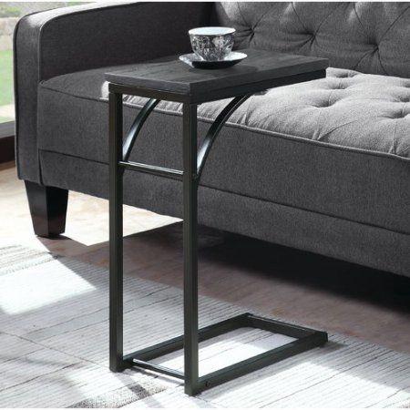 Sensational Coaster Snack Table In Weathered Grey Black Short Links Chair Design For Home Short Linksinfo