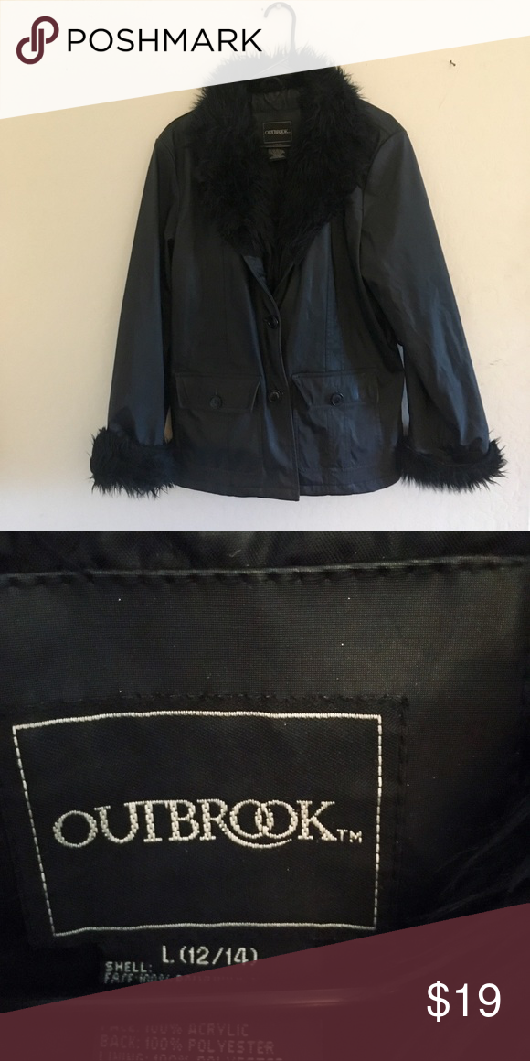 b027b3f87 Faux Leather And Fur Jacket Faux Leather And Fur Jacket. Outbrook ...