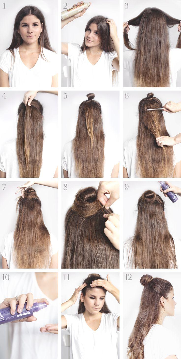 Tutorial Chic Half Bun Frisuren Geflochtene Frisuren Und Flechtfrisuren