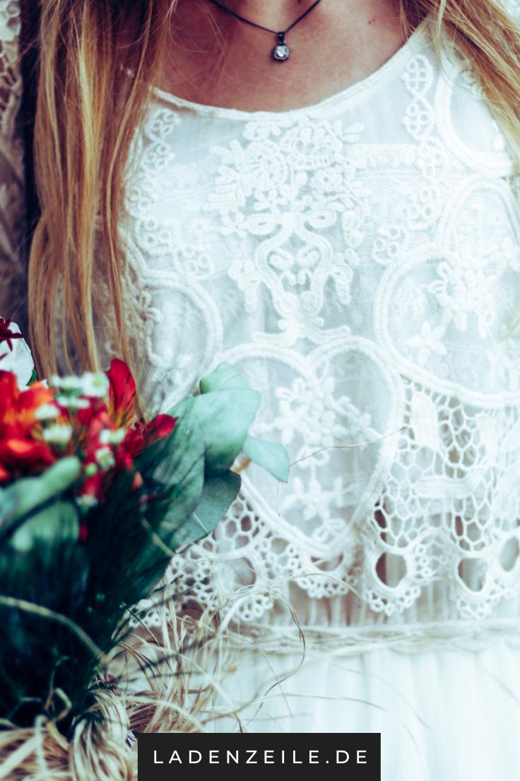 Weiße Festliche Kleider aus Spitze für Damen