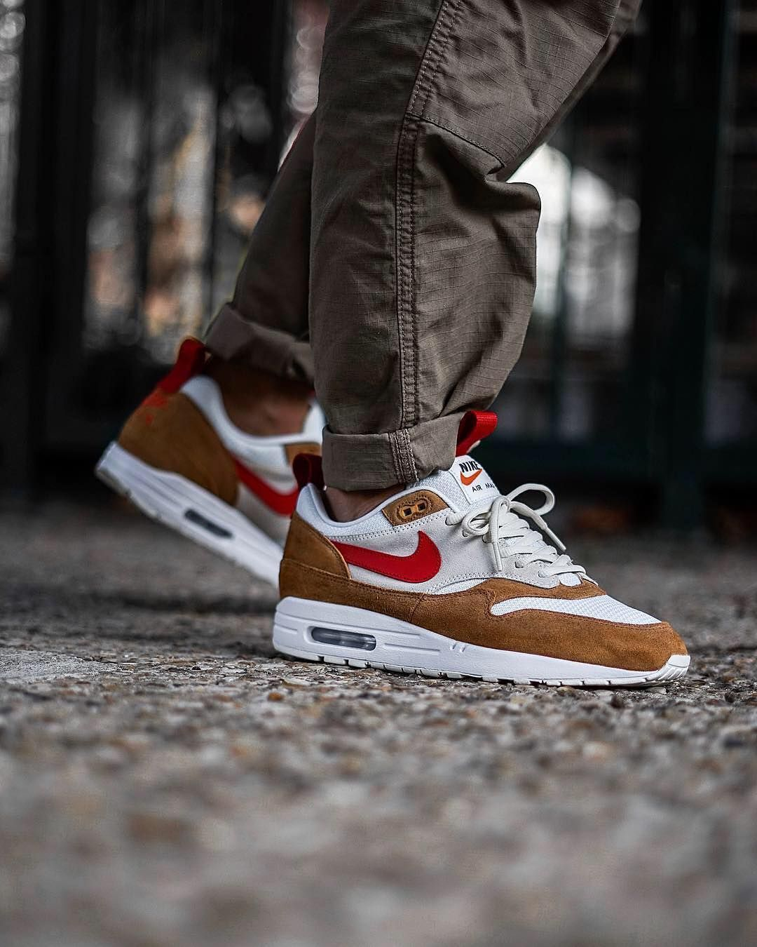 "brand new 2deea 53aeb  theoze on Instagram  ""👨 🚀 Mars Exploration • On feet pics of my Air Max  1 iD custom inspired by the Tom Sachs Mars Yard •  nike  airmax1  tomsachs  ..."