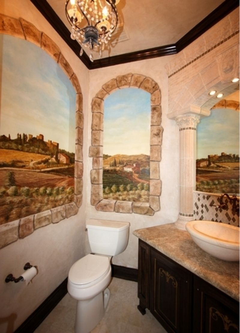Tuscan Bathroom Designs | Tuscan bathroom decor, Tuscan ...