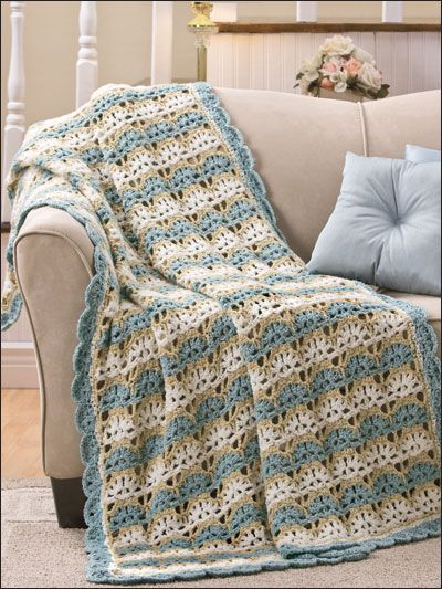 Crochet Afghan Amp Throw Patterns Popcorn Ripple