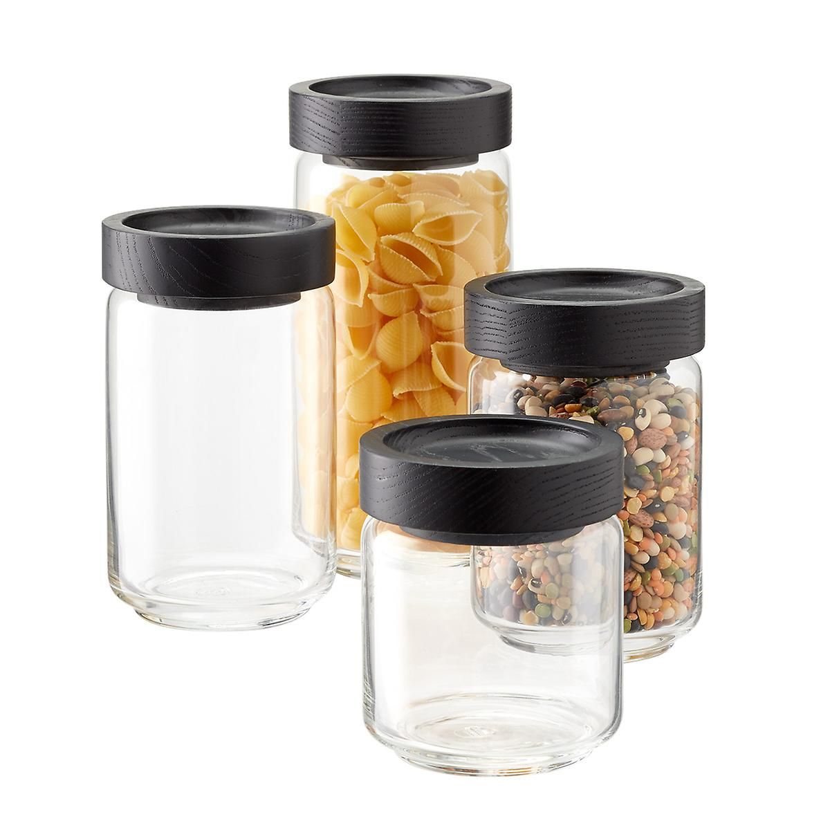 0e3e71c9bde8 Artisan Glass Canisters with Black Lids in 2019 | eco products ...