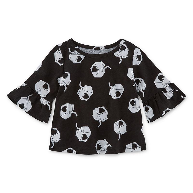 f2c3e0bc2 Okie Dokie Girls Crew Neck Long Sleeve Graphic T-Shirt-Baby ...