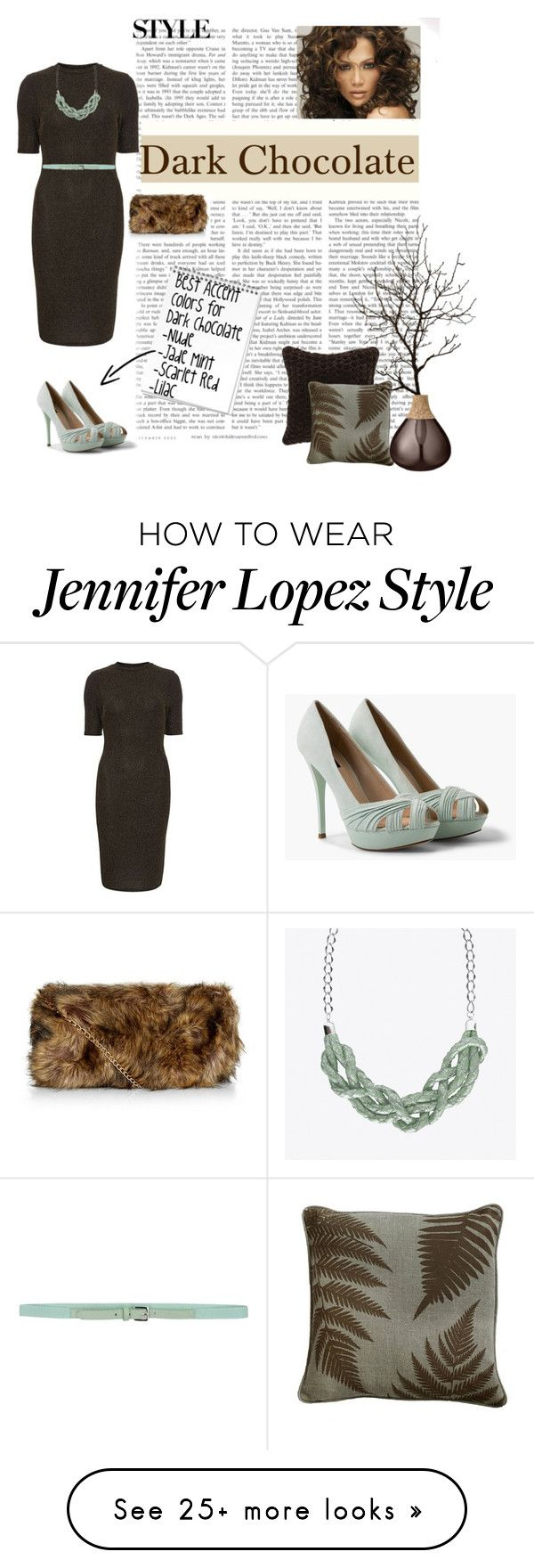 """""""Winter's Haute Hues - #5 Dark Chocolate"""" by charlie-sparrow on Polyvore featuring York Wallcoverings, Jennifer Lopez, Dorothy Perkins, MANGO, malo, Nico, Bloomingville and Dotti Jewellery"""