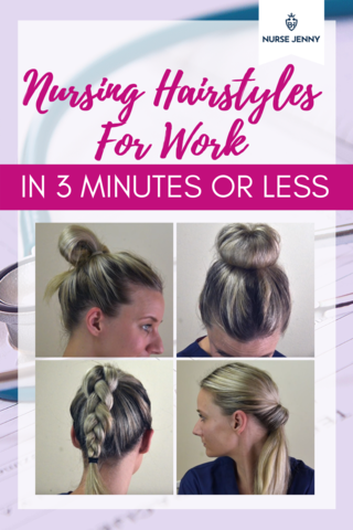 Nursing Hairstyles For Work In 3 Minutes Or Less Nurse Hairstyles Hair Styles Easy Work Hairstyles