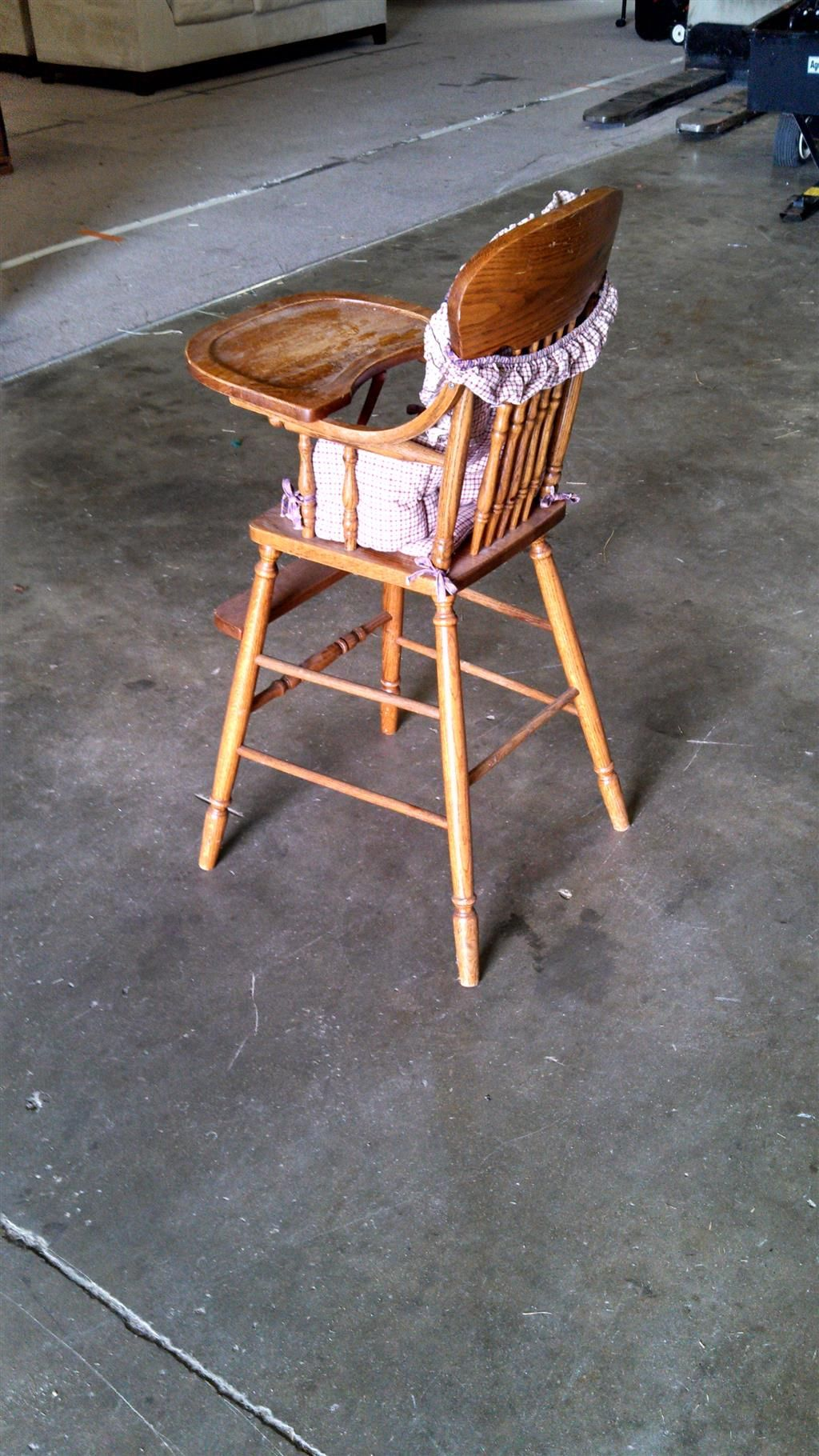 Antique wooden high chair with tray wooden high chairs