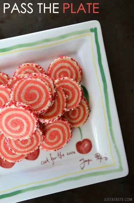 Pink Pinwheel Sugar Cookies from justataste.com