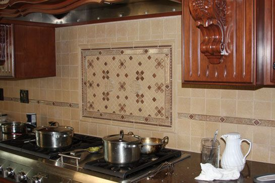 Eureka Kitchen Ornate Tile Backsplash Behind 545 363 Kitchen Pinterest