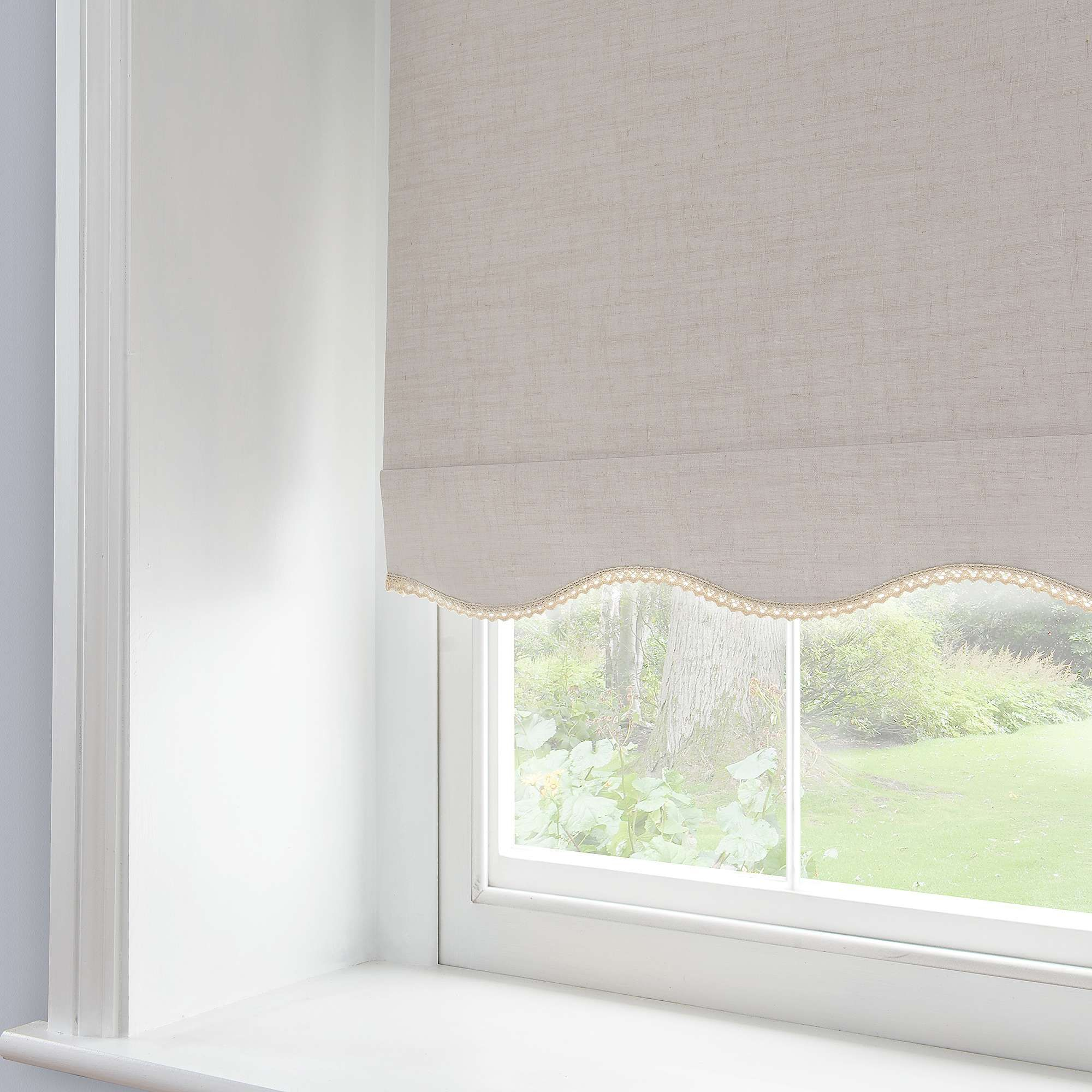 Lace Trim Blackout Roller Blind Dunelm Window