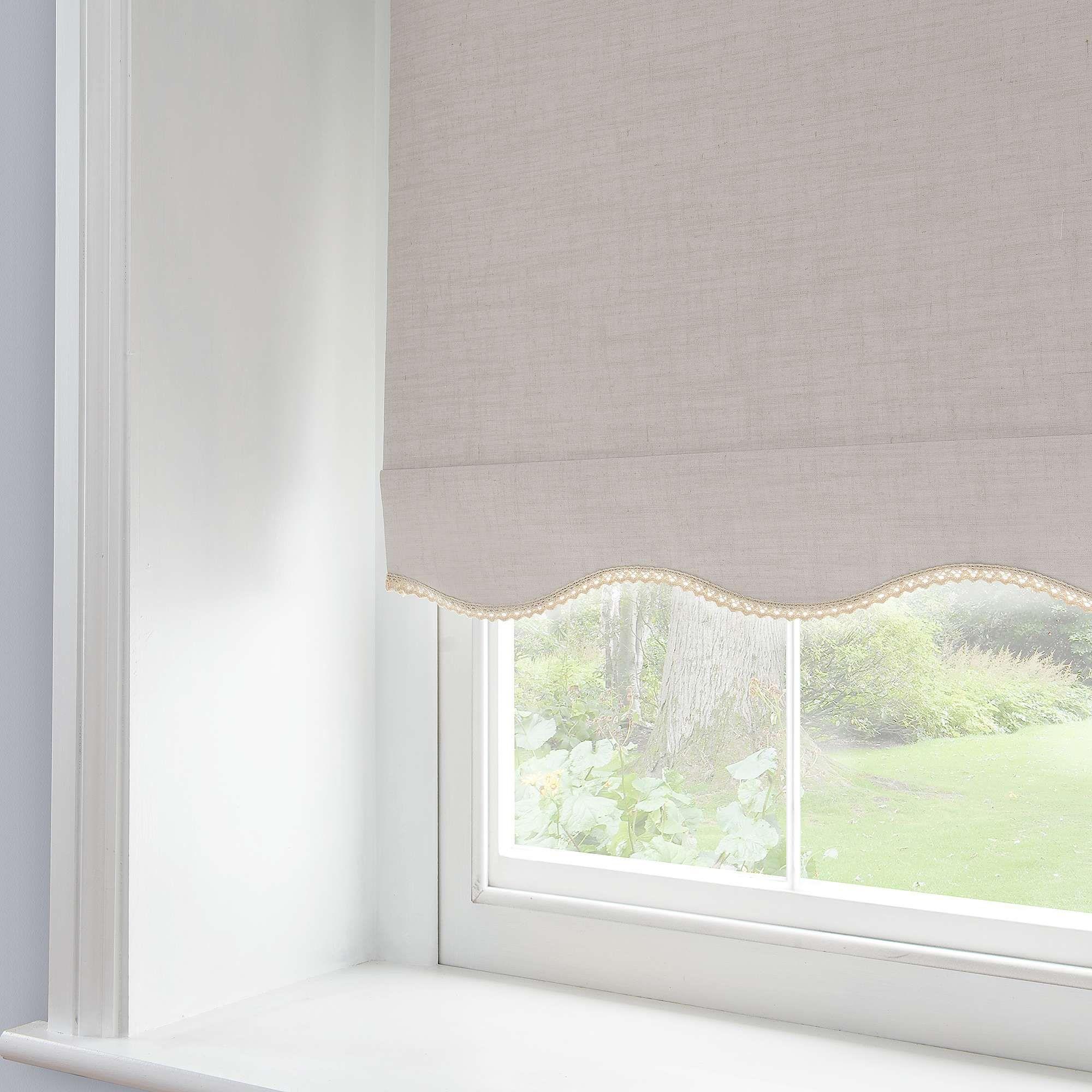 Lace Trim Blackout Roller Blind Roller Blinds Bedroom Blackout Roller Blinds Curtains With Blinds