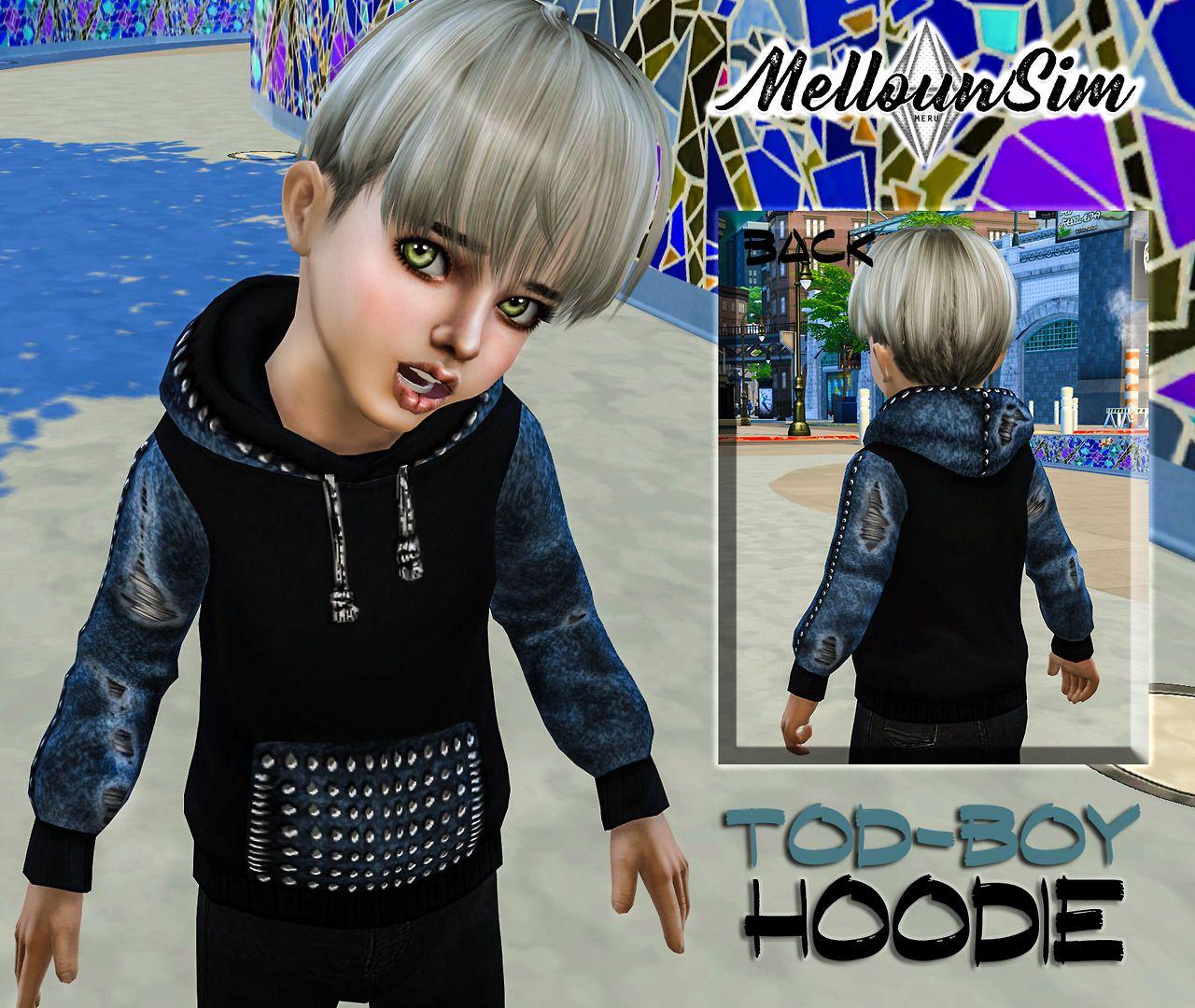 Mellouwsim sims 4 toddler toddler boy hoodie sims 4 cc