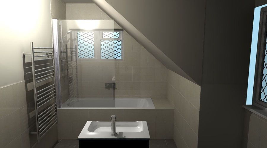 A luxury en suite bathroom in a loft conversion designed for Bathroom ideas loft conversion