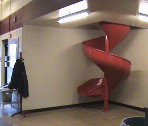 Firemans Aluminum Slide Chute For 12 Foot Deck Height Indoor