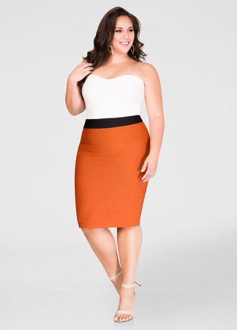 f79b68786d9 SC Pick  Ashley Stewart Strapless Bandage Dress Up To Size 32 ...