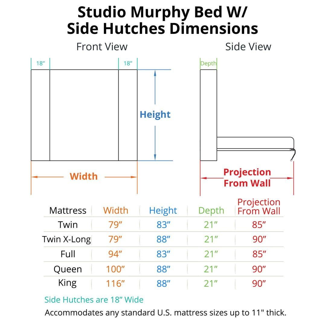 Studio Murphy Bed With Hutches Murphy Bed Plans Murphy Bed Kits Murphy Bed