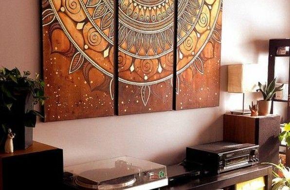 Leinwand Schlafzimmer ~ Mandala zum ausmalen leinwand bunt art pinterest mandala zum