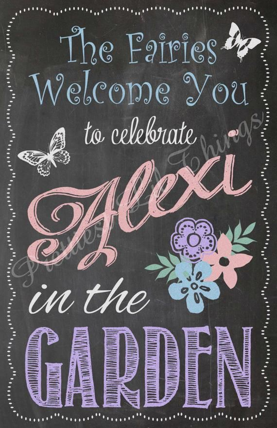 Shabby Chic Vintage Chalkboard Garden Party Welcome Sign Girls Birthday Party Bridal Or Baby Shower Vintage Chalkboard Baby Shower Signs Shabby Chic